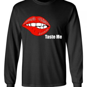 In Bed With Nikky Taste Me Black Long Sleeve T-Shirt