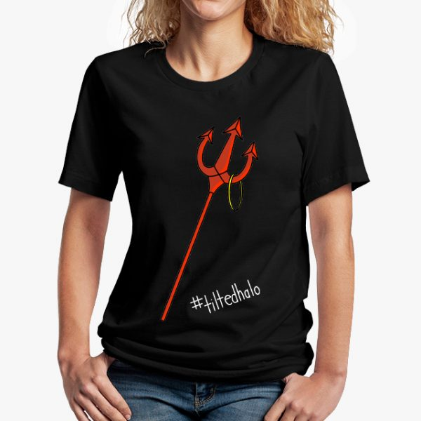 In Bed With Nikky Tilted Halo Black Unisex T-Shirt
