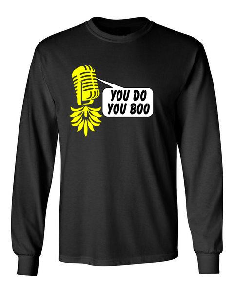 The Upsidedown Pineapple You Do You Boo Black Long Sleeve T-Shirt
