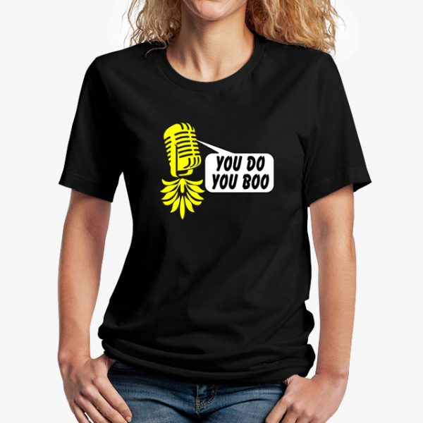 The Upsidedown Pineapple You Do You Boo Black Unisex T-Shirt