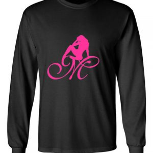 Mrs Pineapple Silhouette Logo Black Long Sleeve T-Shirt