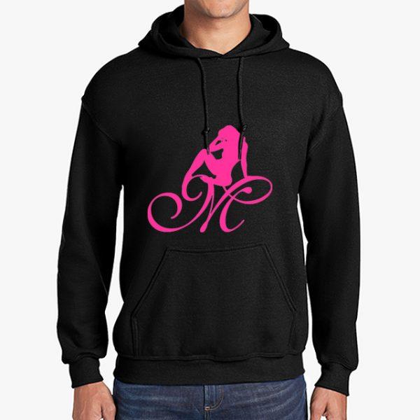 Mrs Pineapple Silhouette Logo Black Hoodie