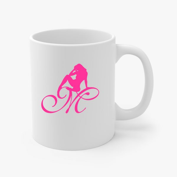 Mrs Pineapple Silhouette Logo Coffee Cup