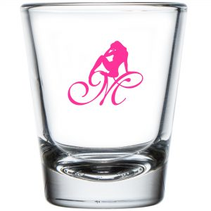 Mrs Pineapple Silhouette Logo Shot Glass