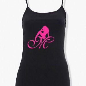 Mrs Pineapple Silhouette Logo Spaghetti Straps Tank Top
