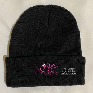 Mrs Pineapple Black Beanie
