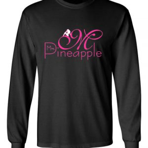 Mrs Pineapple Black Long Sleeve T-Shirt