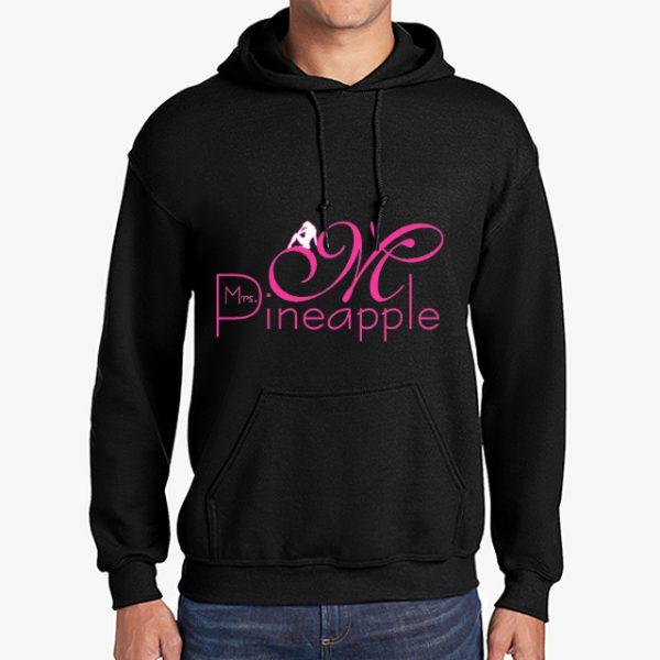 Mrs Pineapple Black Hoodie