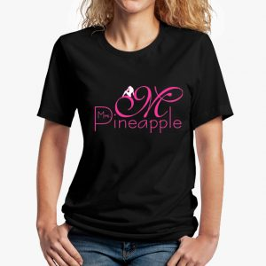 Mrs Pineapple Black Unisex T-Shirt