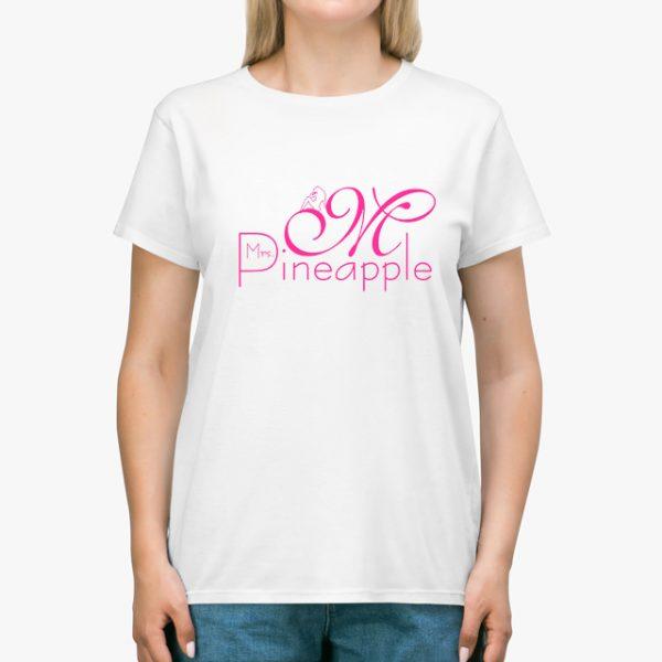 Mrs Pineapple White Unisex T-Shirt