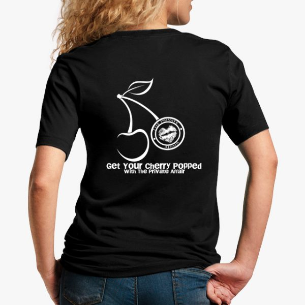 Get Your Cherry Popped with The Private Affair Black Unisex T-Shirt