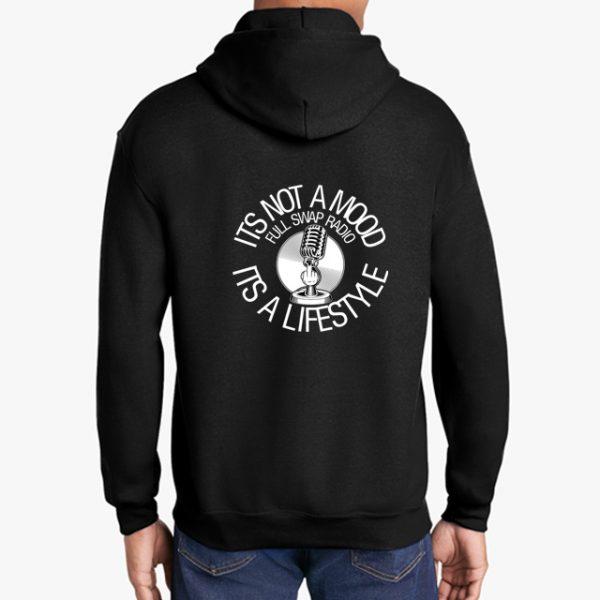 FullSwapRadio black hoodie back