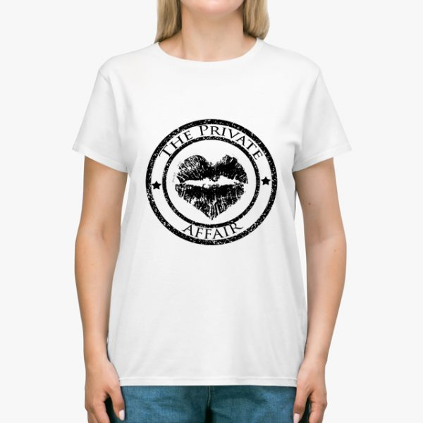 The Private Affair White Unisex T-Shirt