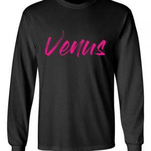 Venus Black Unisex Long Sleeve T-Shirt