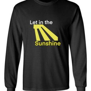 Let in the Sunshine Black Unisex Long Sleeve T-Shirt