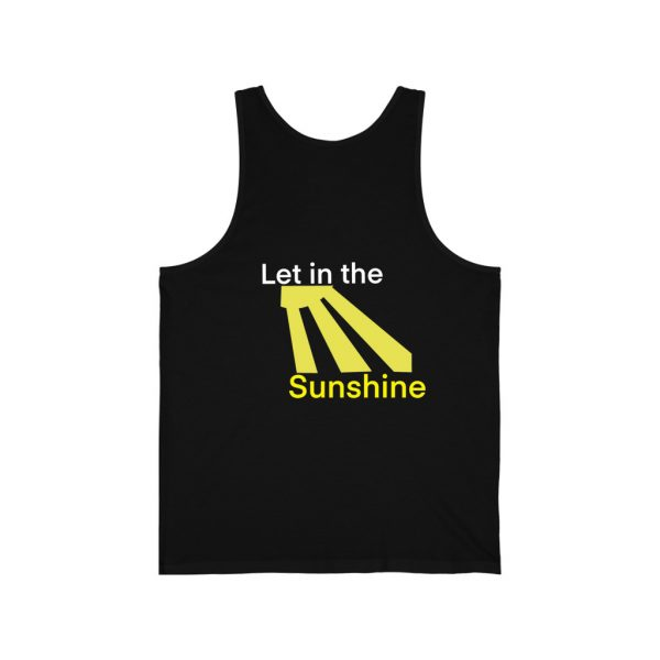 Let in the Sunshine Black Unisex Jersey Tank Top