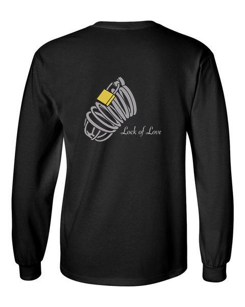 lock of love black back long sleeve t-shirt
