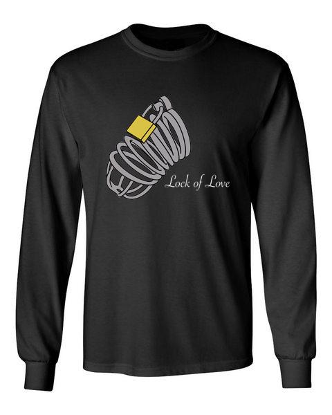 lock of love black front long sleeve t-shirt