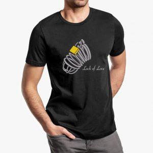 lock of love black unisex tshirt - man