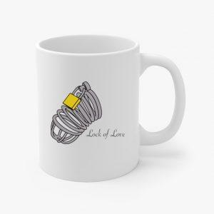 lock of love coffee cup