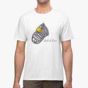lock of love white unisex tshirt man