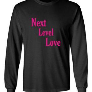 next level love pink black front long sleeve t-shirt