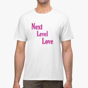 next level love pink white unisex tshirt man example