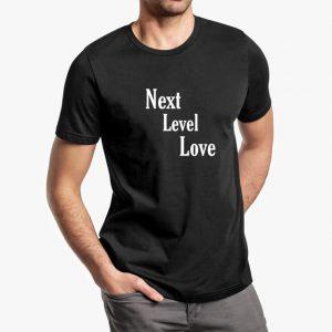 next level love white black unisex tshirt - man example