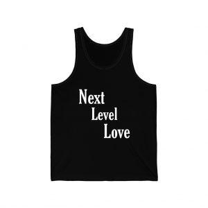 next level love white unisex-jersey-tank front