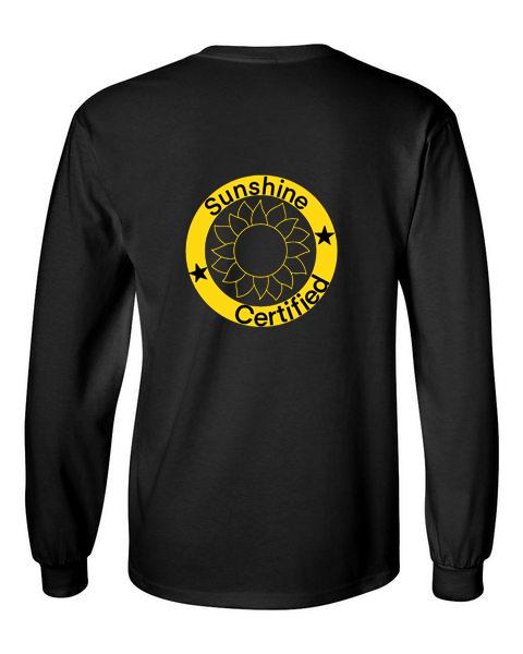 Sunshine Certified Black Unisex Long Sleeve T-Shirt