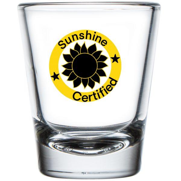 Sunshine Certified Shot Glass 1.75 oz
