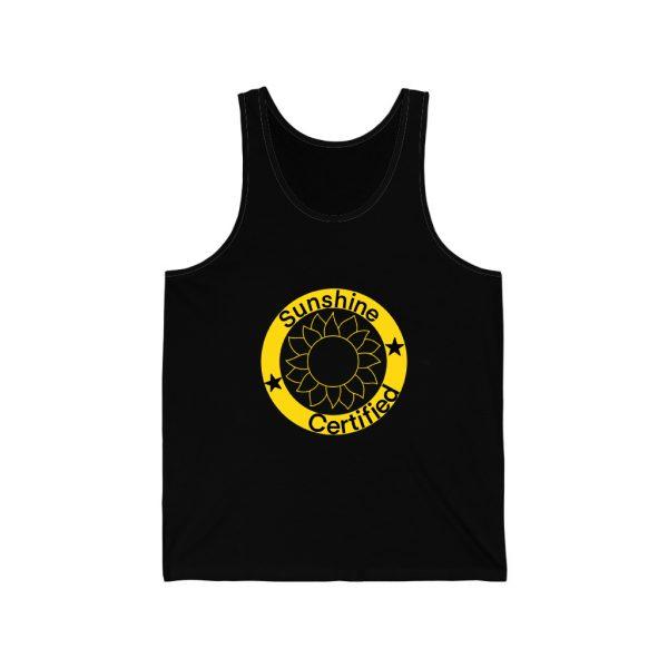 Sunshine Certified Black Unisex Jersey Tank Top