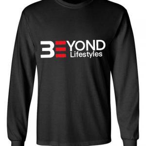 Beyond Lifestyles black front long sleeve t-shirt